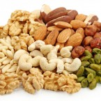 mixed-nuts-on-white-background
